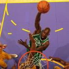 Kevin Garnett had 17 points and four blocks, but his plus/minus ratio was -4.