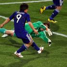In what was a play-in game for the knockout round, Japan's Shinji Okazaki put things out of reach with a goal in the 87th minute, giving his squad a 3-1 lead. The goal was set up by Honda, who weaved his way into the box before giving Okazaki a clean look at goal.