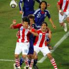 Nelson Haedo Valdez (18) came on as a sub in the 60th minute and made his presence felt for the remainder of the match. He had three shots and two on goal, keeping pressure on Japan's goalkeeper Eiji Kawashima.