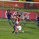 Japan's defense weathered Paraguay's attacks all day, including this chance from Enrique Vera. With both defenses posting shutouts in regulation, the game went into extra time as the third scoreless tie in round of 16 history.