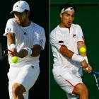 The eight-seeded Fernando Verdasco (left), who had made the round of 16 in three of the past four Wimbledons, fell to 80th-ranked Fabio Fognini of Italy 7-6 (9), 6-2, 6-7 (6), 6-4.
