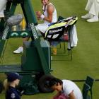 Two weeks after winning the French Open, Francesa Schiavone crashed out in the first round against Russian Vera Dushevina. The 47th-ranked Dushevina won 6-7 (0), 7-5, 6-1 in nearly three hours on the first day of the tournament.