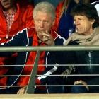 Rumors that the Rolling Stones were about to hire a sax player were flying after these two guys were seen together at the U.S.-Ghana World Cup soccer match in Rustenburg, South Africa.