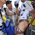 "One of the hazards of competing in the grueling marathon known as the Tour de France is a painful condition known as ""bicycle seat."" The most common cause is ""coming a cropper"" or ""taking a spill."""