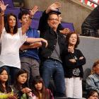 With the NBA in dry dock until next fall, celebrities desperate to be photographed at basketball games are seeking any port in the hoops drought. Mr. Hanks found one at -- where else? -- Staples Center where the WNBA's L.A. Sparks were tangling with the Phoenix Mercury on July 6.