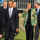 Come to think of it, some tartan plaid slacks would have looked good with Mr. Daly's jacket as golf's fashion plates made their way to the past champions dinner before the British Open at St. Andrews, Scotland.