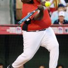 The living definition of  heavy hitter  was on display at the MLB All-Star Celebrity Softball Game at Angels Stadium.