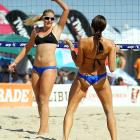 See? We keep telling you there's an actual sports connection with swimwear, but you won't believe us. This bit of incontrovertible proof was shot at the AVP Hermosa Beach Open in California on July 16.