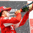The Spanish Formula One pilot demonstrated the hazards of driving and drinking after winning the German Grand Prix at Hockenheimring on July 25.