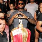 He Who Must Not Be Named (in Cleveland, at least) was seen, with his customary headwear, in TAO, a 10,000-square foot hotspot in Las Vegas on July 24.