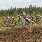It seems that rather dramatic measures were used to keep the riders on course during this year's event.