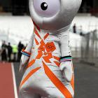 Looking fresh from the Firesign Theatre's Intergalactic Alien Friendship Convention, this official mascot, one of two, will be keeping an eye on the 2012 Summer Olympics in London.