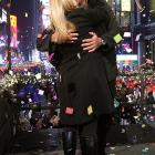 Cynthia and Alex Rodriguez ring in their last New Year's Eve as a couple in 2007 by appearing on NBC in Times Square.