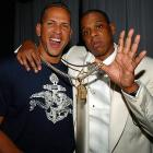 Jay-Z might be off the oversized clothes and chains, but A-Rod showed up at the 40/40 Club rocking enough gold to make Michael Phelps jealous in early May 2008.
