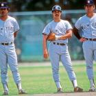 Lou Piniella, Rick Cerrone and Greg Nettles during Yankees spring training in 1984.