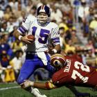 Giants quarterback Craig Morton could not escape the pressure from Redskins lineman Diron Talbert. The Giants lost twice to the Redskins in 1975.