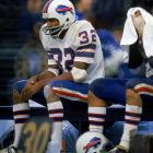 O.J. Simpson takes in some of the Oct. 12th, 38-31 road win over the Baltimore Colts.