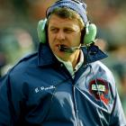 Bill Parcells on the sidelines during a 28-10 win over the Pittsburgh Steelers at Giants Stadium.
