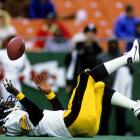 John Stallworth showed his flair for the dramatic with an acrobatic catch in a 36-28 win over the Kansas City Chiefs at Arrowhead Stadium.