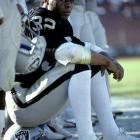 Marcus Allen of the L.A. Raiders rushed for 1,759 yards and 11 touchdowns on 380 carries in '85. That total was far and away his greatest workload, and likely as a result, his greatest output. Allen never again rushed for over 1,000 yards in any of his remaining 12 NFL seasons.