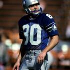 Steve Largent spent his entire 14-year career with the Seattle Seahawks after being drafted in the 4th round by the Houston Oilers. In 1985 Largent was first team All-Pro and led the league in receiving yards.