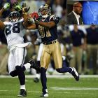 """Before St. Louis drafted Torry Holt, the team had won 15 games in three years. After they selected the touted N.C. State receiver in the first round of the 1999 NFL Draft, the Rams amassed 16 wins and a Super Bowl trophy in the same season. Arriving the same year as Kurt Warner and Marshall Faulk, Holt became an integral part of """"The Greatest Show on Turf"""", the high-flying Rams' offense that averaged 33 points per game and transformed the image of the previously downtrodden franchise. Holt emerged as one of the top downfield threats in the NFL, earning seven Pro Bowl selections and setting a league record with six consecutive seasons of at least 1,300 yards receiving. After leaving the Rams in 2008, Holt had a disappointing season in Jacksonville followed by an inactive year in New England. Holt signed a ceremonial one-day contract with the Rams on April 4, 2012, ending his career 10th all-time in receiving yards."""