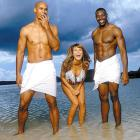Not pictured: Bill Parcells, which was just fine with T.O., Heidi Klum and Jason Taylor at this 2001 SI Swimsuit shoot.