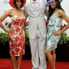 T.O. traded the mint juleps for BJ and Kitna Williams at the 2010 Kentucky Derby.