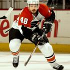 The Flyers outbid several teams for the free-agent forward who was paid $10 million during his first season in Philadelphia. He's coming off the second of two $8 million seasons and is due to receive $7 million per until 2013. Briere will be paid as little $3 million in 2013-14 and $2 million in the final year of the contract.