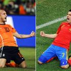 """The first World Cup in Africa appropriately presents something new: Spain or the Netherlands as a first-time champion.  The Spaniards and Dutch will meet Sunday at Soccer City after winning tight semifinals.  For the Spanish, it will cement the legacy of their """"Golden Generation,"""" believed to be their most talented group of players ever. For the Netherlands, it is the chance to upset the odds and claim a historic, underdog victory."""