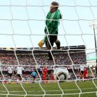 "Proponents of goal-line technology had another reason to lobby for video replay after what happened in England's 4-1 loss to Germany in the round of 16. England trailed 2-1 in the first half when Frank Lampard's shot hit the crossbar and landed about a yard behind the goal line. But the teams played on as referee Jorge Larrionda didn't rule it a goal. ''The game probably would be different after the goal,"" England coach Fabio Capello said, but instead Germany scored twice more in the second half and advanced."