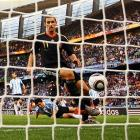 Making his 100th appearance for Germany, Miroslav Klose scored twice in a 4-0 rout against Argentina in the quarterfinals. The brace gave Klose 14 career World Cup goals, tied for second with German legend Gerd Mueller and one behind all-time leader Ronaldo of Brazil.