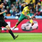 Siphiwe Tshabalala scored the first goal of the tournament with a 55th-minute strike against Mexico in Johannesburg. South Africa would settle for a 1-1 tie and -- despite some inspired play in the group stage -- ultimately become the first host nation in World Cup history not to advance.