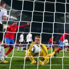 Unable to rally after Spain's second-half goal, Germany is headed to the third-place game for the second World Cup in a row.