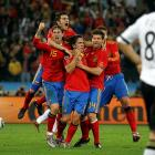 After the victory, Spain's players threw their arms up in celebration, with some even tearing up. Spain has now won five consecutive matches in the tournament after losing its first match to Switzerland.