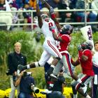 Despite double teams and a nagging knee injury, the 6-foot-4 speedster led all Tide receivers with 596 yards in 2009. His best performance came against LSU, when he caught four balls for 102 yards, including a 73-yard TD on a screen pass.