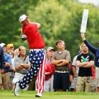 July 4 came a little late for John Daly, as he brought the fireworks to the Greenbrier Classic in White Sulphur Springs, W.Va. with the most patriotic pantaloons ever seen on the PGA Tour.  Wonder if he folds them into a tri-corner when he's done playing.