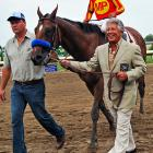 """It was all about """"horsepower"""" at the IZOD Haskell Invitational, as Indy Car legend Mario Andretti escorted the winner, Lookin' At Lucky, to the winner's circle, or as Andretti knows it, victory lane."""