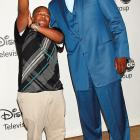 Perhaps in need of a morale boost after signing on for a bench role with the Boston Celtics, Shaq hit the town with a buddy who no doubt made Shaq feel huge: 5-foot-5 rapper and actor Kyle Massey.