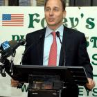 Ladies and gentlemen, will you please welcome the latest inductee of the Irish American Baseball Hall of Fame. The Yankees GM was ushered into the hallowed ranks during an induction ceremony at Foley's Pub in New York City on Aug. 6.