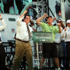 With Gang Green's Super Bowl championship already in the bag, according to coach Rex Ryan (not pictured), New York's governor got in on the celebration at HBO's  Hard Knocks Training Camp With The New York Jets  fan kickoff celebration in Times Square.