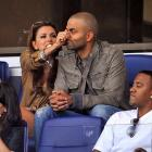 The Spurs point guard got a little schnozz adjustment from the Mrs. while they watched exciting MLS action between the L.A. Galaxy and the New York Red Bulls in fabulous Harrison, N.J. on Aug. 14.