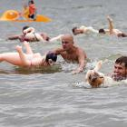 """And you thought guys who bought inflatable """"companion dolls"""" were weird! Well, they were merely gearing up for the big swimming competition in the Siberian city of Novosibursk. So get your mind out of the gutter."""