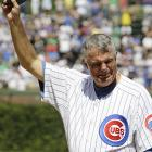 They say there's no crying in baseball, but it's OK when you're hangin' 'em up after five distinguished decades in our national pastime. Or maybe he'd just been cutting onions in the dugout when called by the Wrigley Field crowd to take a bow.