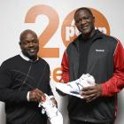 Smith and retired NBA star Dominique Wilkins attend the Reebok Pump 20th Anniversary at Pop Burger in New York City.