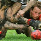 Bendigo's Blair Holmes got down and dirty in search of the ball in a round 17 Victorian Football League match last Saturday at ABD Group Stadium in Melbourne. Bendigo beat Coburn 12.11 (83) to 9.7 (61) for its fourth straight victory.