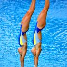 Ukraine's Iulia Prokopchuk and Alina Chaplenko won silver medals in the 10m synchronized platform at the European Swimming Championships.