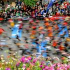 Athletes at the start of the 8th Edition of the North Face Ultra-Trail, considered as one of the hardest countryside trail races, on Aug. 27 in Chamonix, in the French Alps. The athletes have to cover 166 km through France, Italy and Switzerland with 9,400m of ascent.