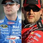 NASCAR doled out dual six-race probations to Tony Stewart and Kurt Busch after they used their cars as battering rams during practice for the 2008 Budweiser Shootout. Whether Stewart threw a punch at Busch while both were being admonished in the NASCAR trailer has never been confirmed.