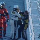 In one of NASCAR's most unexpected spats, veteran racers Jeff Gordon and Jeff Burton brawled after a November 2010 wreck at Texas Motor Speedway. The two became entangled under caution on lap 192, and Gordon's No. 24 Chevy was pushed into the wall. Infuriated, Gordon walked over to Burton and the two began an on-track shoving match along the Turn 2 wall.